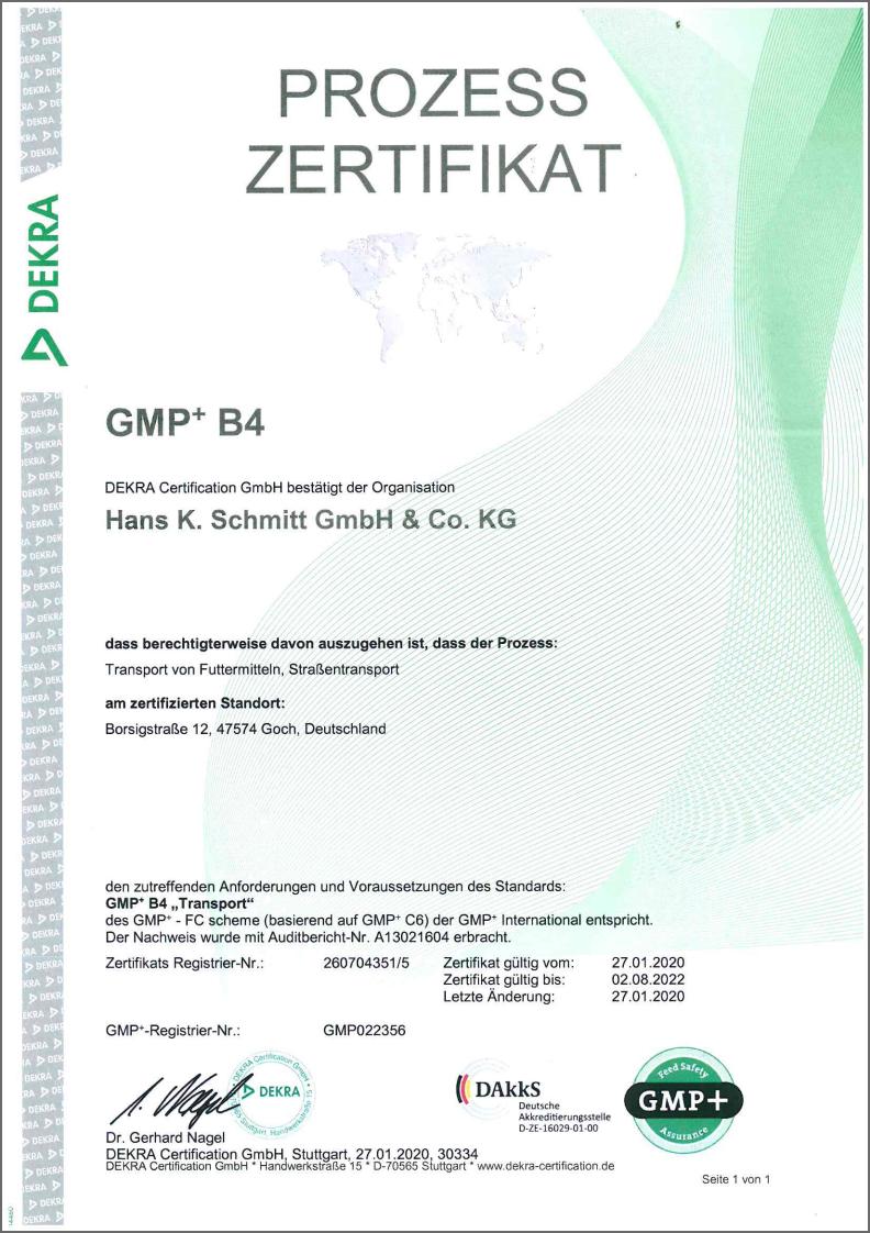 • Als GMP+ B4 zertifiziertes Unternehmen transportieren wir gerne Ihre Futtermittel